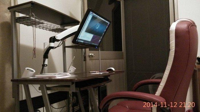 LCD LED 液晶 電腦 雙臂支架 螢幕架 螢幕支架 雙節型 螢幕架 夾桌 鎖桌 人體工學 可調 電視架 隨拉隨停可調