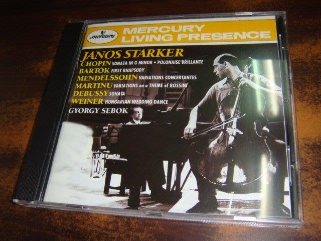 好音悅 半銀圈 Starker 史塔克 大提琴精緻小品集 蕭邦ETC Gyorgy Sebok Mercury 德01版