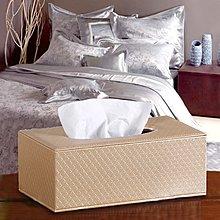 智慧購物王》精品歐式花紋皮革磁吸式收納面紙盒/紙巾盒(香檳金)