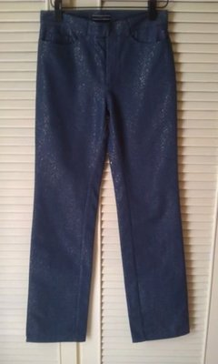 全新JOSEPH金蔥閃亮藍鉛筆褲pencil pants煙管褲drainpipe jeanscigarette pants原價$14500