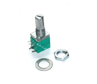 【UCI電子】(10-4) RV097NS 五腳 10K 單聯電位器 B10K 帶開關音響 功放電位器柄15mm