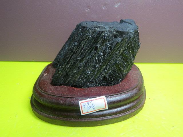 【競標網】漂亮天然巴西條狀黑碧璽原礦497克(贈座)(網路特價品、原價1500元)限量一件