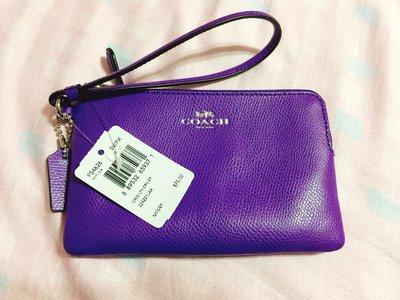 美國outlets購入 COACH 紫色 單層 手拿包 二手