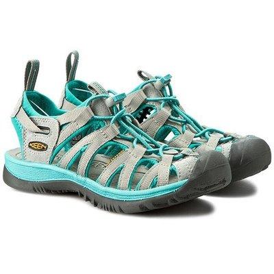 =CodE= KEEN WHISPER SANDALS 編織彈性綁繩護趾防水包頭涼鞋(灰綠) 1014205 拖鞋 女