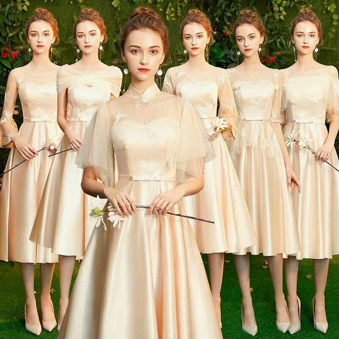 天使佳人婚紗禮服旗袍~~短款伴娘小禮服蕾絲