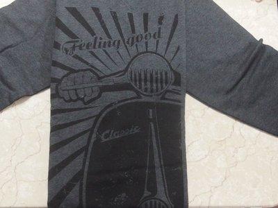 【德國 SIP】機車精品 偉士牌Vespa 長袖限量shirt 深灰 L  Art.No. 9518551L