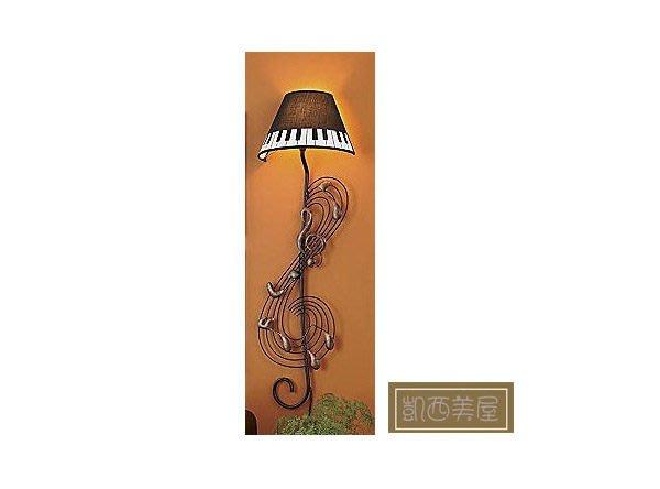 凱西美屋 美式鄉村鋼琴壁燈 音符壁燈 鍛鐵壁燈 設計師款