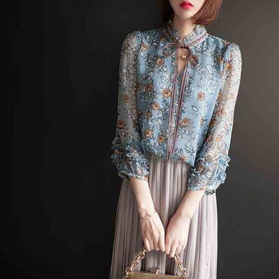 韓國訂單碎花雪紡襯衫另有百褶裙長裙