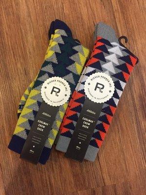 ☆AirRoom☆ 【現貨】 2015 A/W Richer Poorer RINGSIDE 襪子 兩款 三角形 花紋