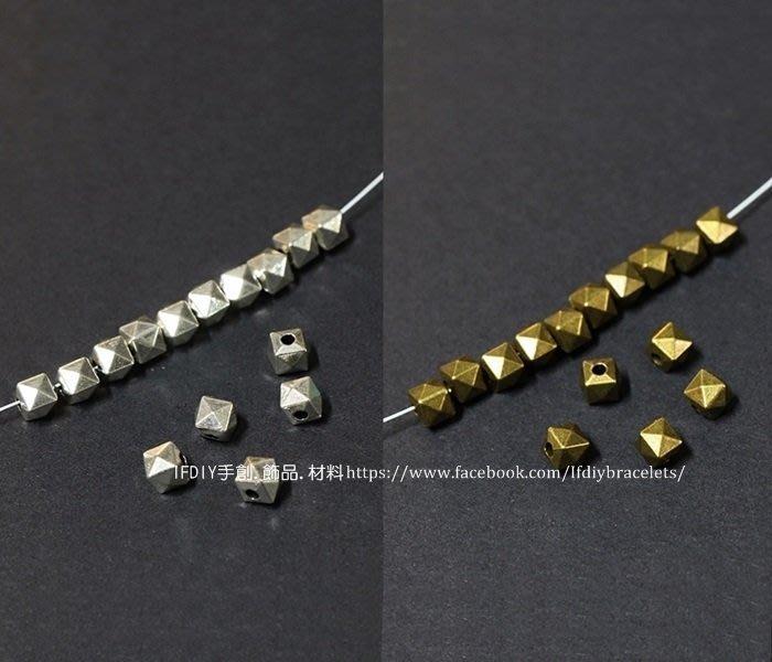 飾品 配件 切角隔珠 10入/組 古銀/古銅 連接 DIY 手創 handmade 手鍊 項鍊 蠟線 編織