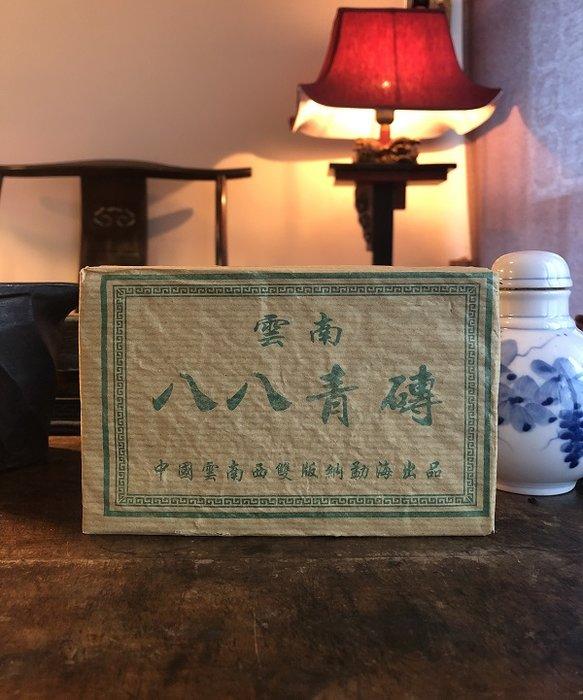 2011年雲南八八青磚(生茶)台灣乾倉優惠分享價可以堂普洱襍軒