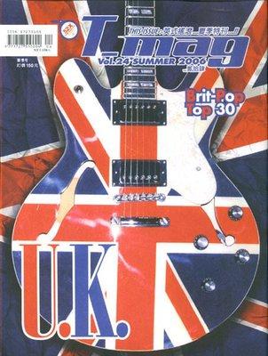 T-mag 中文音樂雜誌~Vol.24 Brit Pop Oasis Blur Radiohead pink floyd led zeppelin