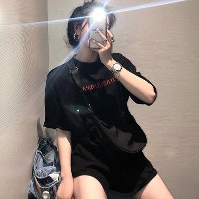 【伯爵兔 😎】 日韓系 chic風😎       氣質圓領撞色字母卡通印花 百搭短袖T恤上衣