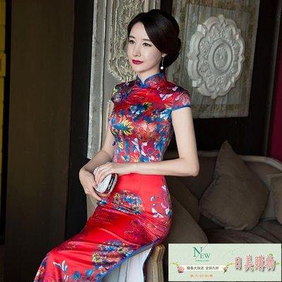旗袍 老上海旗袍夏季 女中國風優雅改良...