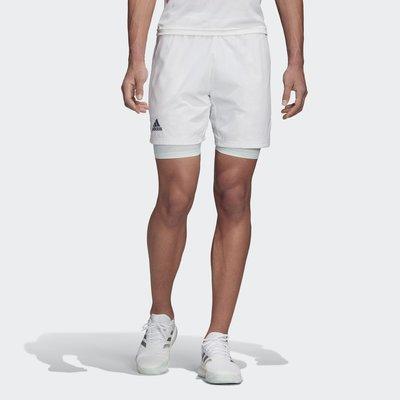 【豬豬老闆】ADIDAS HEAT.RDY 白 透氣 舒適 運動 訓練 網球 兩件式 緊身褲 短褲 男款 FS8410