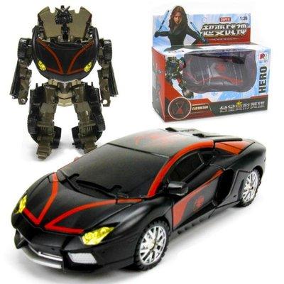 變形玩具男孩機器人汽車模型 合金 塑膠材質兒童玩具yq83