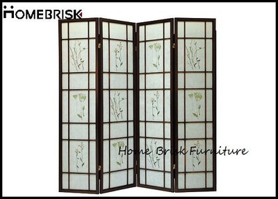 【宏興HOME BRISK】胡桃色三朵花屏風,《HN新品15》