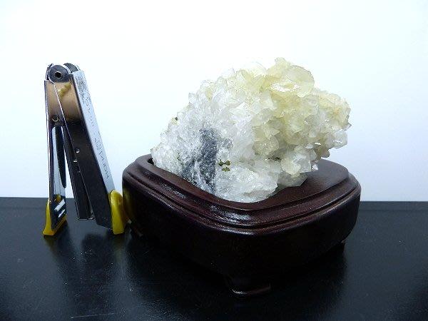 ☆寶峻晶石館☆特價~方解石 結晶 水晶 共生原礦 擺件 BSS-188