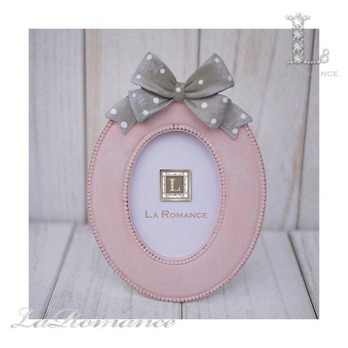 【荷蘭 Clayre & Eef 特惠系列】 粉色蝴蝶結橢圓3.5 x 5.5相框 / 童趣 / 生日 / 紀念日