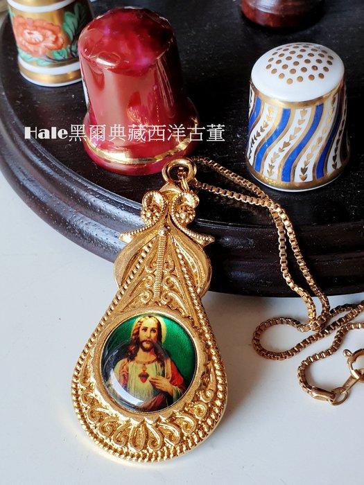 黑爾典藏西洋古董~耶穌基督像項鍊/墜~信仰十字宗教系列羅馬天主聖母瑪麗亞