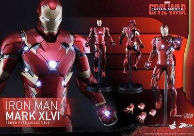 全新 Hot Toys 1/6 PPS003 美國隊長3 英雄內戰 鋼鐵人 MK46 馬克46 動態雕像