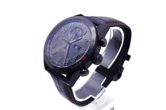 【高雄青蘋果】Oris 豪利時 Audi Sport 鈦限量賽車聯名計時腕錶 黑 44mm #18698