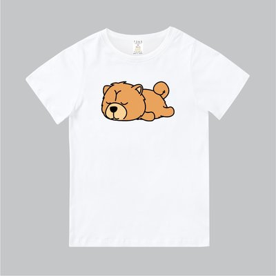T365 MIT 親子裝 T恤 童裝 情侶裝 T-shirt 短T Chow 鬆獅犬 慵懶 趴趴 狗狗 汪星人 DOG