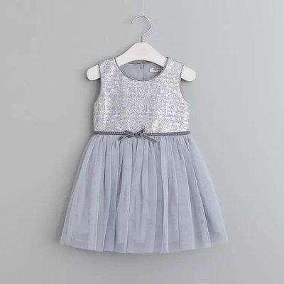 Amber's Clothes 原單款淡藍色閃亮亮片網紗背心裙/洋裝