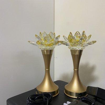 【佛讚嘆】晶鑽蓮花燈 神明燈 8.2吋一對價格 公媽燈 光明燈佛燈祖先燈供燈宗教用品