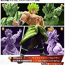 TOYSECO 行版 龍珠超劇場 DRAGON BALL SHF 布洛尼 FULL POWER BROLY S.H.FIGUARTS 可動 ACTION
