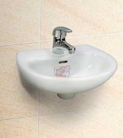 台中興大水電衛浴設備-含安裝舊換新3800,台灣摩登L-30小型洗臉盆+台製利發牌龍頭配件