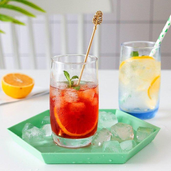 無鉛玻璃茶杯子微波爐牛奶果汁飲料杯家用水杯啤酒杯透明耐熱藍色歐式酒杯