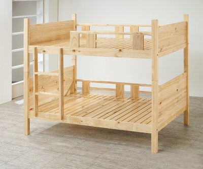【南洋風休閒傢俱】精選時尚床 雙層床 木頭床 上下床 兒童床 -標準紐松實木雙層床 CY134-07