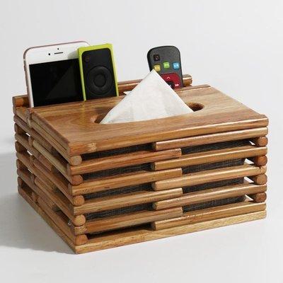 店長推薦多功能紙巾盒客廳遙控器收納盒茶幾家用簡約實木創意歐式抽紙盒三木子愛時尚