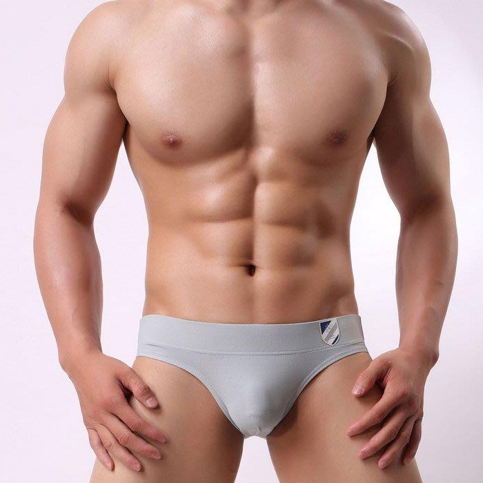 .Jn男潮內著.【JQ07_淺灰25】【M.XL號】BRAVE PERSON新款素色透氣性感/三角/男三角褲/男內褲