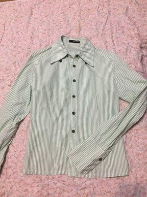 NON STOP 青綠色條紋襯衫