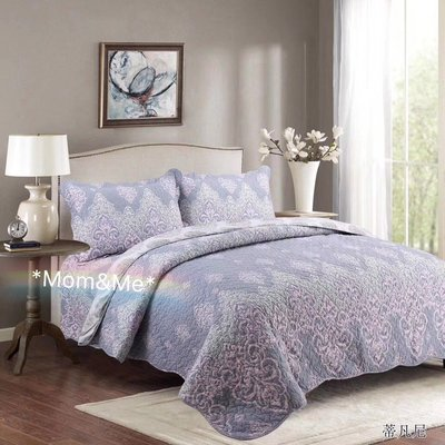 *Mom& Me *典雅花絎縫被套 歐式大罩Quilt  床蓋 床罩 空調被