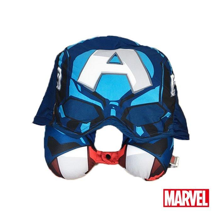 Marvel。漫威美國隊長頭帽U型枕