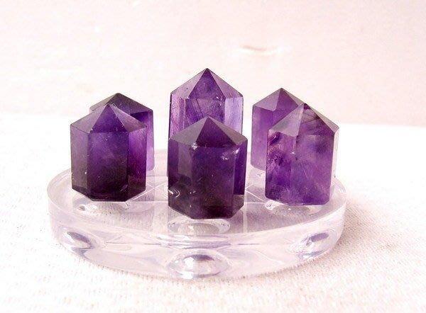 小風鈴~天然巴西六角晶柱紫水晶七星陣~~(小)助考運! 附壓克力七星盤!
