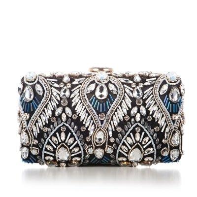 晚宴 包 鑲鑽手拿包-時尚精美手工繡珠女包包2色73su24[獨家進口][米蘭精品]