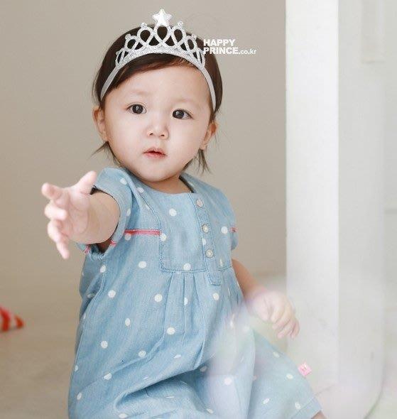 『※妳好,可愛※』 韓國童鞋 HappyPrince 超可愛星星水鑽皇冠 寶寶嬰兒童髮帶 (韓國製)
