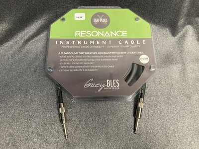 【又昇樂器 . 音響】免運 美國大廠 G&H Plugs 綠標 Resonance Cable 導線20ft 木吉他推薦