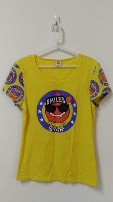 小楊二手衣^^黃色棉質短袖T恤衫
