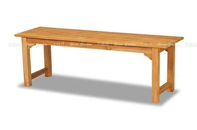 Haro 柚木 長凳(140公分) 【大綠地家具】100%印尼柚木實木/戶外休閒椅/柚木板凳/公園椅