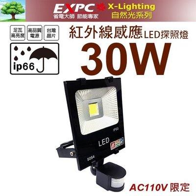 紅外線 30W LED 感應 白光 探照燈 投光燈 舞台燈 防水(10W 20W 50W)X-LIGHTING