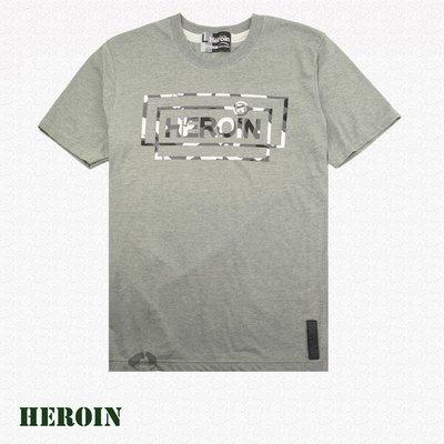 男棉T 街頭 Heroin海洛因品牌 海洛因字樣 灰色 字母T恤-阿法.伊恩納斯  SURPERHERO 經典風格 潮牌