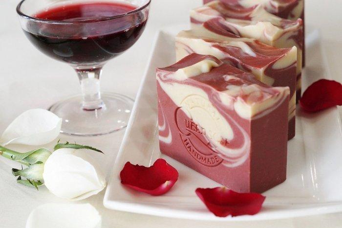 女王天然手工皂「玫瑰紅酒-淨白美妍皂 」 手工香皂  手工肥皂 冷製手工皂
