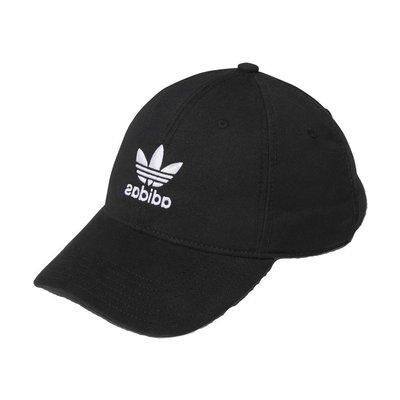 【A-KAY0 5折】ADIDAS 男女 RELAXED STRAPBACK 老帽 黑白【BH7137】