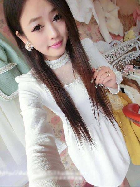 粉紅玫瑰精品屋~春款高領水鑽裙擺百搭修身長袖洋裝~現貨