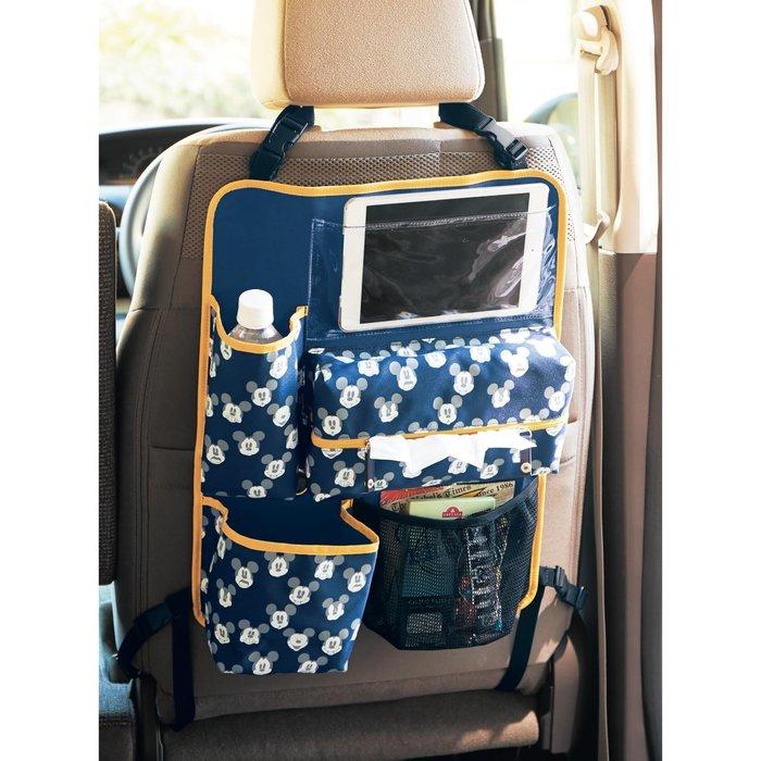 迪士尼Diseny《預購》米奇 車用椅背置物袋 面紙袋 (附收納束口袋) 娃娃車也適用~日本正品~心心小舖